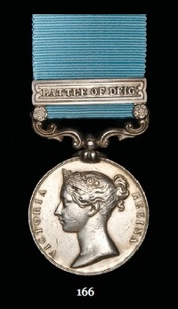 """Army of India Medal (with """"BATTLE OF DEIG"""" clasp)"""