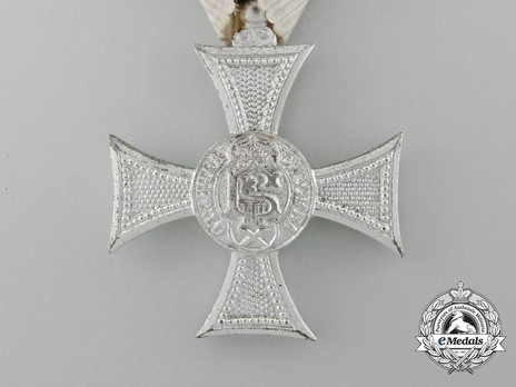 Long Service Cross, Type II, I Class, for 10 Years Obverse