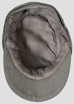 Waffen-SS Officer's Visored Field Cap M43 (silver piped version) Interior