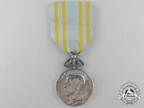 """Silver Medal (stamped """"A.LINDBERG"""") Obverse"""