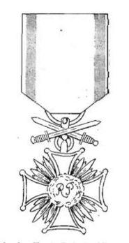 Cross of Merit, I Class (with swords, 1942-1989) Obverse