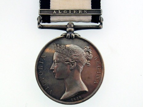 """Silver Medal (with """"ALGIERS"""" clasp) Obverse"""