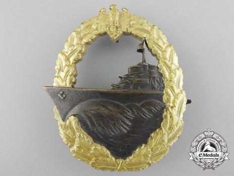 Destroyer War Badge, by C. Schwerin (in tombac) Obverse
