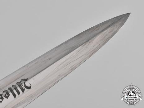 SA Standard Service Dagger by Louper (maker marked) Blade Tip
