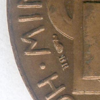 """Bronze Medal (Ministry of War, stamped """"E M LINDAUER"""") Details"""