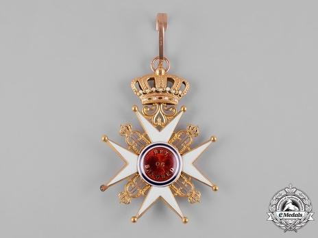 Order of St. Olav, Civil Division, I Class Commander Reverse