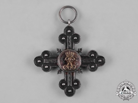 Long Service Decoration for Domestic Service, Silver Cross for 30 Years Reverse