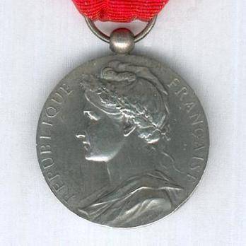 """Silver Medal (stamped """"BORREL"""") Obverse"""