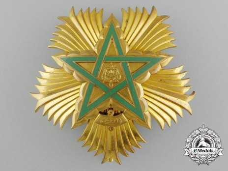Order of the Throne, Grand Cordon Breast Star Obverse