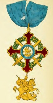 Royal Military Order of St. George of the Reunion, Grand Cross (without crown) Obverse