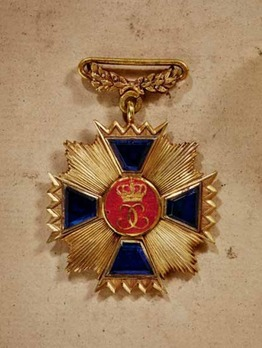 Long Service Cross for Officers, Type I