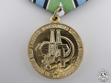Development of the Petrochemical Complex of Western Siberia Brass Medal Reverse
