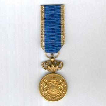 Faithful Service Medal, Type II, I Class Obverse