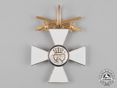 Order of the Red Eagle, Type V, Military Division, I Class Cross (with swords on ring, in gold) Reverse
