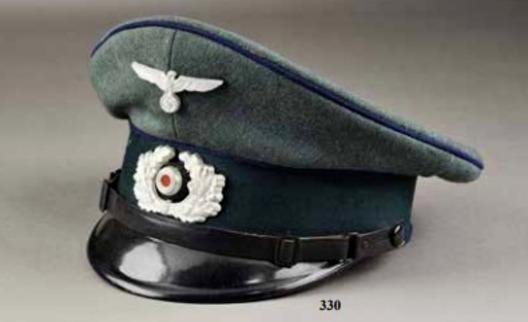 German Army Medical NCO/EM's Visor Cap Obverse