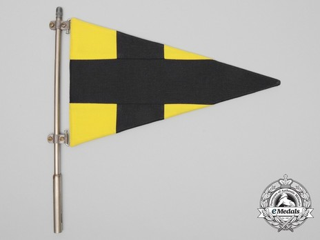 German Army Staff Flag for Battalions (Signals version) Obverse