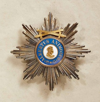 Albert Order, Type II, Military Division, Grand Cross Breast Star (with swords on the ring, 1879-1918)