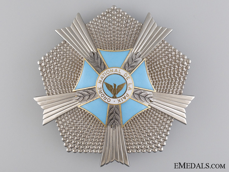 National Order of the Peace, Grand Officer Breast Star Obverse