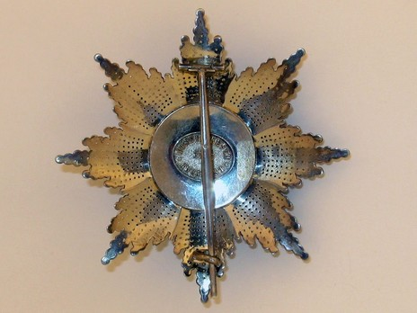 The Order of the Star of Romania, Type I, Military Division, Grand Cross Breast Star Reverse