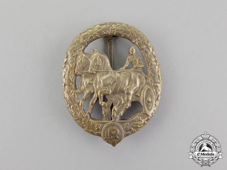 German Horse Driver's Badge, in Silver (in tombac) Obverse