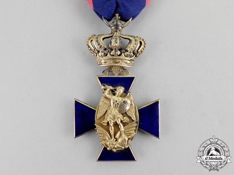 Royal Order of Merit of St. Michael, III Class Cross (in silver gilt) Obverse