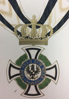 Royal House Order of Hohenzollern, Civil Division, Commander (in gold)