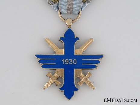 Order of Aeronautical Virtue, Type II, Military Division, Knight's Cross Reverse