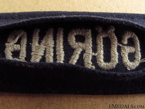 Luftwaffe Hermann Göring Cuff Title (Officer version) Reverse Detail
