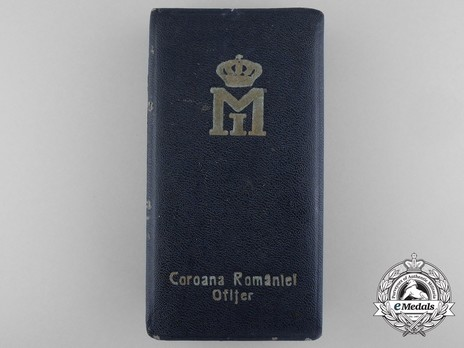 Order of the Romanian Crown, Type II, Military Division, Officer's Cross Case of Issue