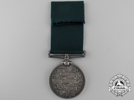 Silver Medal (for United Kingdom recipients, with Queen Victoria effigy) Reverse