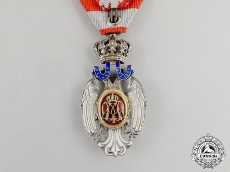 Order of the White Eagle, Type I, Civil Division, V Class Reverse