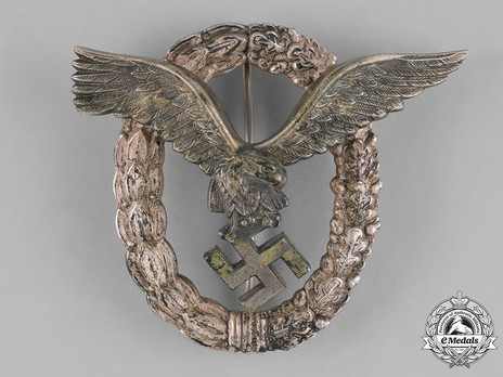 Pilot Badge, by Gebrüder Wegerhoff (in nickel-silver) Obverse