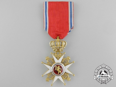 Order of St. Olav, Civil Division, Knight I Class (1847-1906) Reverse