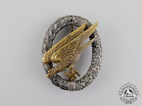 Luftwaffe Paratrooper Badge, by C. E. Juncker (in brass) Obverse