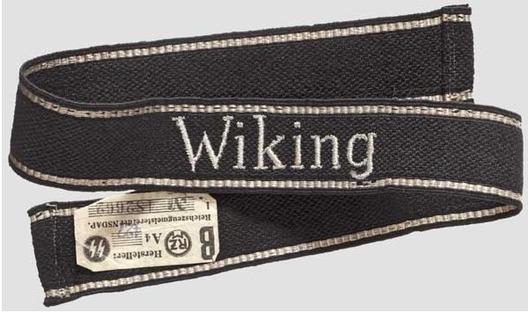 Waffen-SS Wiking NCO/EM's Cuff Title (RZM machine-embroidered version) Obverse