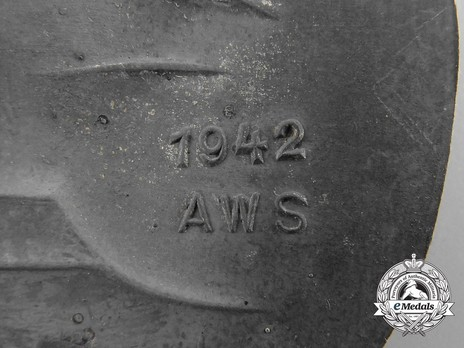 Panzer Assault Badge, in Silver, by A. Wallpach Detail