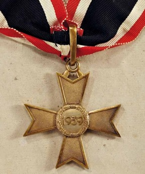 Golden Knight's Cross of the War Merit Cross without Swords, by C. F. Zimmermann Reverse