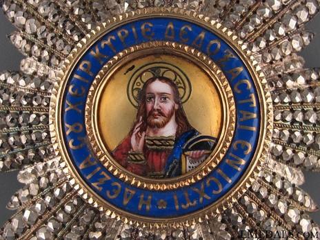 Order of the Redeemer, Type II, Grand Cross Breast Star Obverse Detail