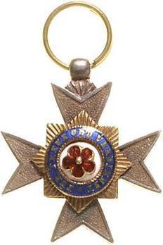 House Order of the Honour Cross, Type I, IV Class Cross Obverse