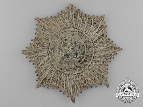 Breast Star (1807-1840) (Embroidered) Reverse