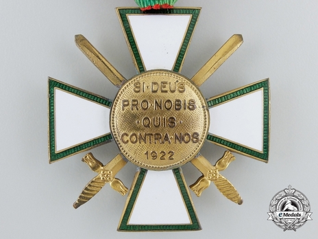 Hungarian Order of Merit, Knight, Military Division Reverse