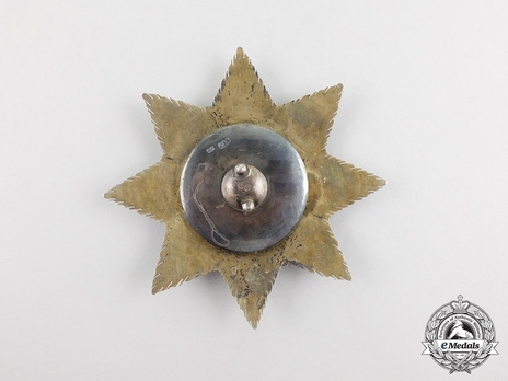 Order of Saint Stanislaus, Type I, Civil Division, I Class Breast Star (in gold) Reverse