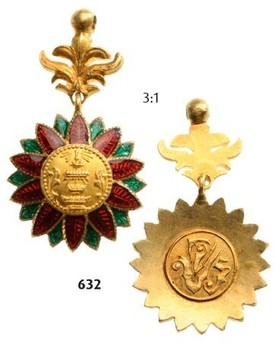 Order of the Crown of Thailand Miniature Badge Obverse