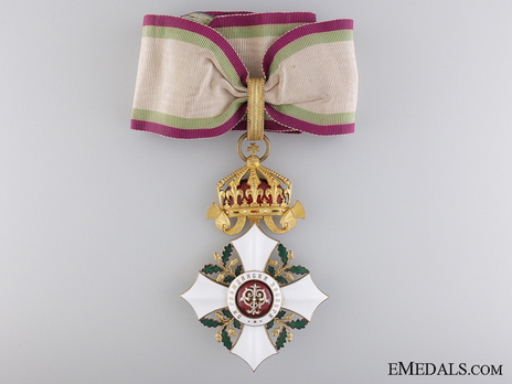 Order of Civil Merit, Type II, III Class Commander (1908-1933) Obverse