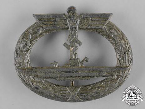 Submarine War Badge, by Gebrüder Wegerhoff Obverse