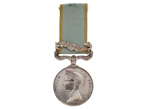 """Silver Medal (with """"AZOFF"""" clasp) Obverse"""