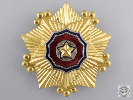 Order of the National Flag, I Class Obverse