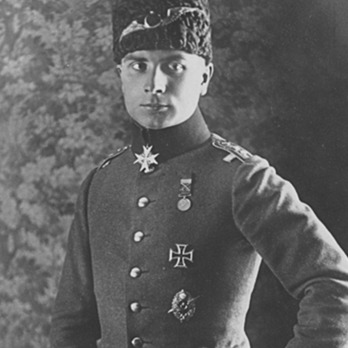 Hans-Joachim Buddecke wearing an Liyakat Medal