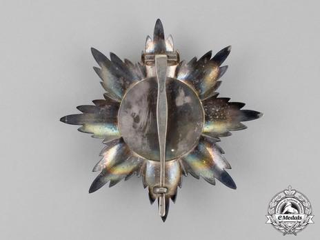 Order of the Brilliant Star of Zanzibar, Type IV, I Class Breast Star Reverse
