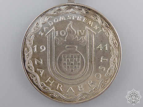 Small Silver Medal Reverse